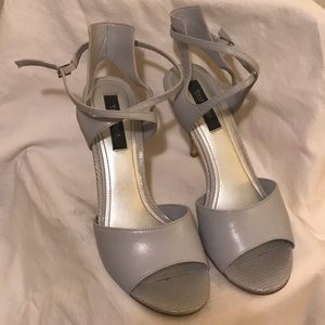 WHBM Grey Stappy Heels